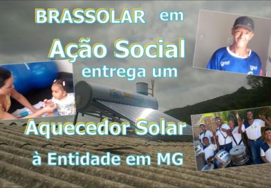 BRASSOLAR entrega Aquecedor Solar à APAE em campanha solidária na cidade de Caeté/MG