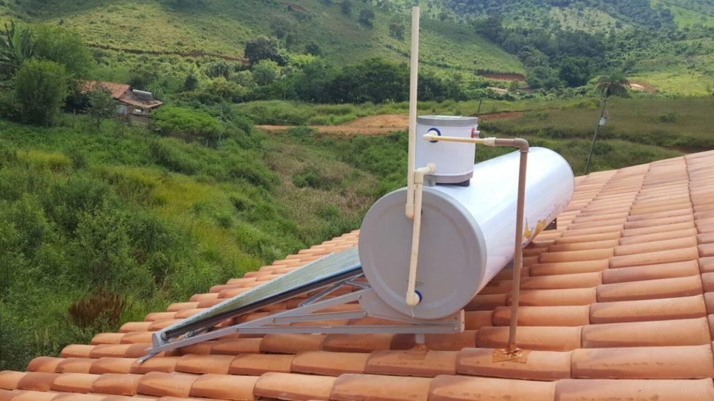 Instalacao de aquecedor solar